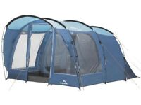 Easy Camp Boston 400, 4 man tent, 2 bedroom areas , seating area large windows,doors, porch awning.