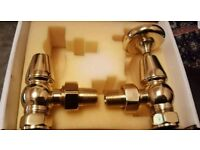 NEW Oxford Traditional Angled Thermostatic Radiator Valve Brass 15mm