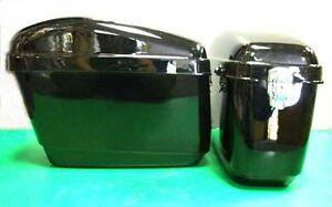 Universal Hard Case Side Pannier Boxes BK-Motorcycle-Bike-Cruiser-Shopper-Trike