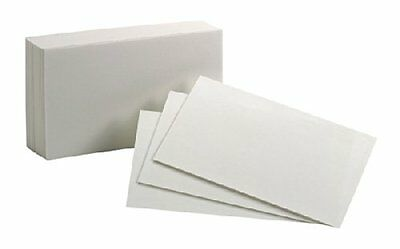 Oxford Blank Index Cards - Plain - 3 X 5 - White Paper - 300 Pack