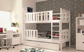 Double bunk bed and matresses..
