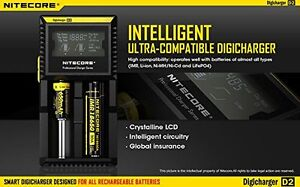 NiteCore D2 Charger with LCD Display