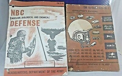 LOT OF 2 DEPARTMENT OF ARMY MANUALS FM-21-40 TM 11-5820-401-10-2 RADIO NUCLEAR