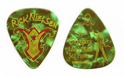 Cheap Trick Rick Nielsen Green Pearl Guitar Pick Las Vegas - 2009 Tour