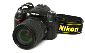 Nikon D90 with Nikkor18-200mm lens, factory lens and accessories