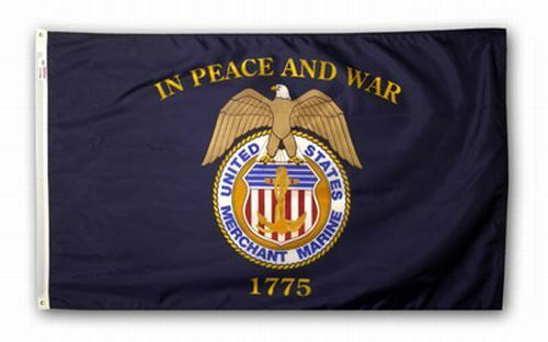 3x5 ft US MERCHANT MARINE In Peace And War 1775 Official Flag Made in USA
