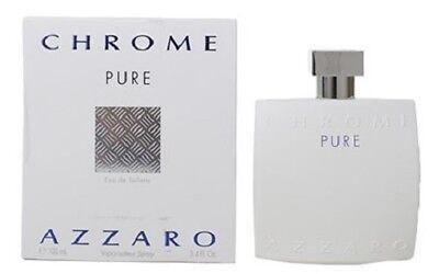 Chrome Pure By Azzaro 3 4Oz 100 Ml Eau De Toilette Spray Men Nib Sealed