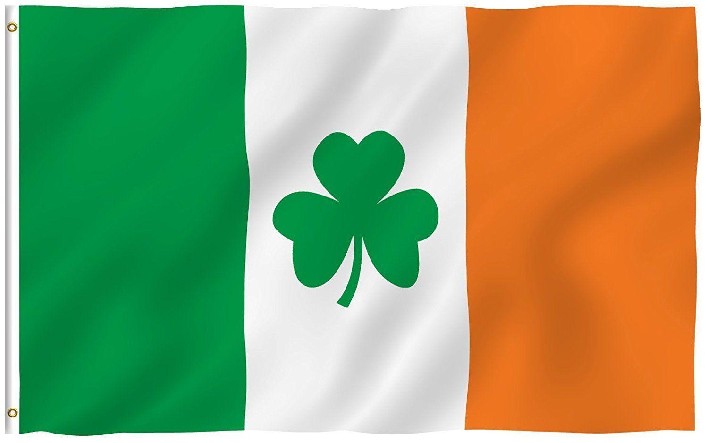 3X5 Ireland Irish Shamrock St. Patricks Day Flag Banner Clov