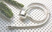 Sterling Silver Snake Chain Charm Bracelet