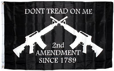 3x5 Dont Tread on Me Second Amendment NRA M4 Rifle Flag Prot