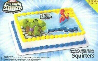 DECOPAC MARVEL SUPER HERO SQUAD CAKE TOPPER SUPER HERO DECOSET 31414 VHTF (Super Hero Squad Party Supplies)