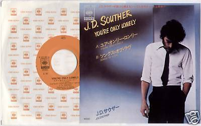 """J. D. SOUTHER ~ YOU'RE ONLY LONELY / SONGS OF LOVE ~ 1979 JAPAN 7"""" SINGLE + P/S"""