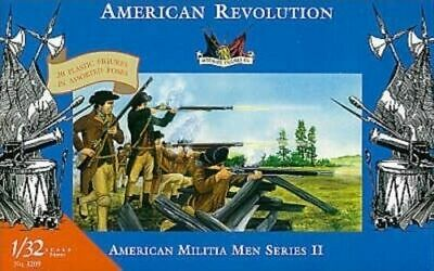 American Revolution Militia Men Series II 2 Accurate 1/32 54mm Plastic 3209