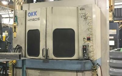 Used Okk Hm-80s Cnc Horizontal Mill 1999 31 Pallet 60 Tools 12000 Rpm Tsc 1000