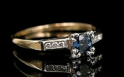 - 0.12 Ct Natural Diamond Solitaire Diwali Ring Inset Real Accents in 14 Kt Gold
