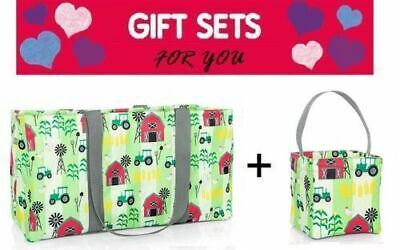 Set Thirty One LARGE UTILITY tote little carry all caddy Bag 31 gift Farm Fun (Tote Bags Bulk)