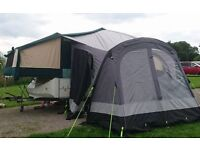 Kampa Fiesta Air 280 Air Awning - prof adapted for Conway Cruiser 1993. EX COND USED ONCE