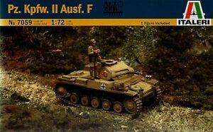 ITALERI 7059 - Scala 1/72 - Pz. Kpfw. II Ausf. F - Lucernate, Italia - L'oggetto può essere restituito - Lucernate, Italia