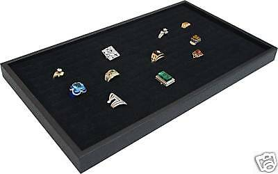 144 Black Ring Jewelry Display Case Orgnizer Insert New