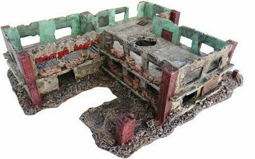 15mm Stalingrad Nail Factory Ruin with Lift out floors No. 1080