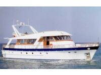 Steel Boat 21,5m For Sale Based in Greece.
