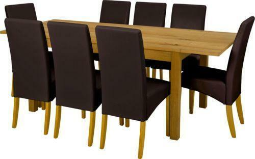 oak dining table and 8 chairs ebay