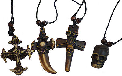Buy Pirate Costume (Medieval-LARP-SCA-Gothic-Steampunk 4 PIRATE NECKLACES - Bulk Buy, Save)
