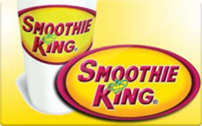 100 SMOOTHIE KING GIFT CARD FREE SHIPPING  - $85.00