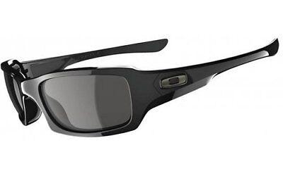 Oakley Men's Fives Squared OO9238-04 Rectangular Sunglasses, Polished Black, 54