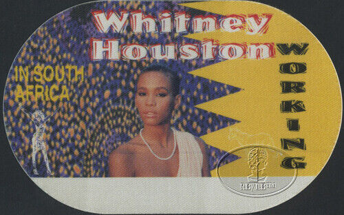 WHITNEY HOUSTON 1994 SOUTH AFRICA Backstage Pass