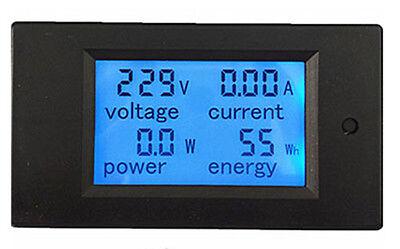 AC 80-260V 20A  LCD Digital  Volt Watt Power Meter Ammeter Voltmeter 110V 220V