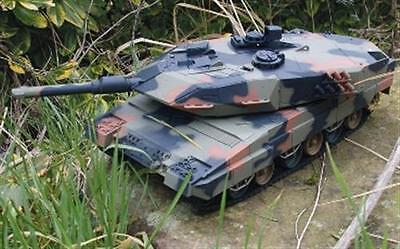 """RC Panzer """"Leopard II A5"""" 1:24, 40cm mit Schussfunktion Modelbau Zubehör Militär"""