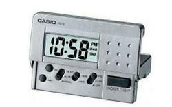 Casio Grey Digital Led Travel Alarm Clock PQ10D-8