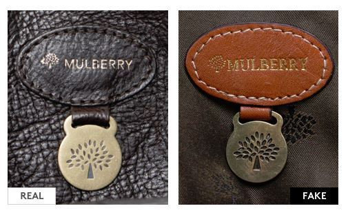 how to spot a fake mulberry bag