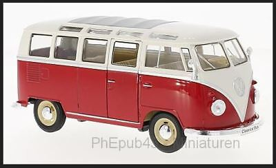 Volkswagen T1 Samba - 1963 - Red/White - Welly (1:24)