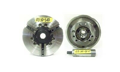 Fowler 10 3 Jaw A2-6 Spindle Mount Power Chuck Model 53-300-002