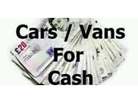 CARS AND VANS WANTED!?!!