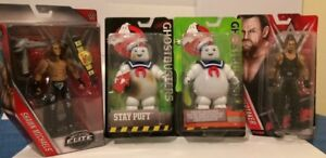 2 WWE WWF & 2 GHOSTBUSTERS ACTION FIGURES FOR ONLY $35