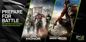 Nvidia Geforce Game Code:Ghost Recon: Wildlands or For Honor
