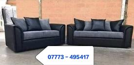 ☑️ Byron Black & Grey Corner Or 3+2 seater Sofa Sale ☑️☑️