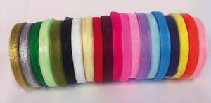 50-Yard-46-mtr-Roll-Of-Sheer-Organza-Ribbon-6-10mm-width-Many-Colours