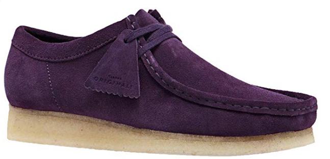 CLARKS Originals Wallabee Mens Shoes - Deep Purple Suede