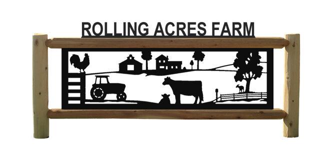 FARM SIGNS - TRACTORS - BARNS - CHICKENS - LOG SIGNS - HORSES - COWS