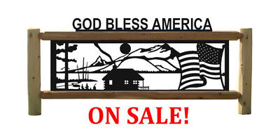 AMERICAN FLAGS - CABINS - PERSONALIZED OUTDOOR SIGNS ()