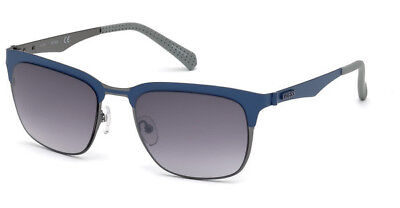NWT Guess Sunglasses GU 6900 91V Matte Blue / Blue 52 mm GU6900 (Guess Wayfarer Sunglasses)