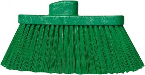 "PRO-SOURCE 10"" Wide, Green Polypropylene Bristles, Angled Broom"