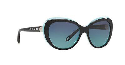 TIFFANY & CO. Sunglasses TF 4122 8055/9S Black Blue / Gradient Blue 56 mm (Tiffany Sunglasses)
