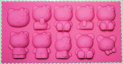 Hello Kitty Silicone Mold Pan 10 Cavities - NEW (Silicone Mold Kitty)