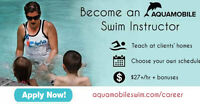 Become an AQUAMOBILE Traveling Swim Instructor $27+/hr