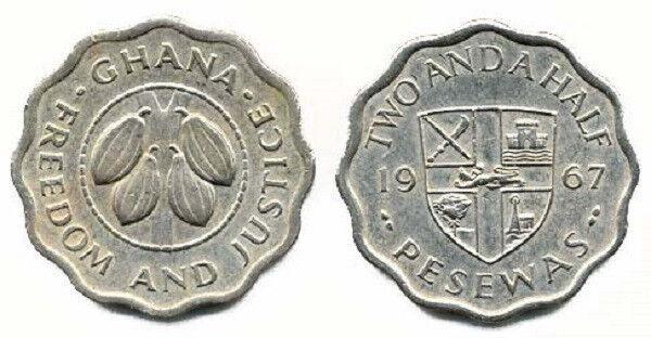 Ghana 1967 2 1/2 Pesewas (KM14)